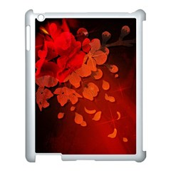 Cherry Blossom, Red Colors Apple Ipad 3/4 Case (white) by FantasyWorld7