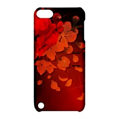 Cherry Blossom, Red Colors Apple Ipod Touch 5 Hardshell Case With Stand by FantasyWorld7