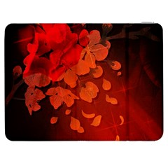 Cherry Blossom, Red Colors Samsung Galaxy Tab 7  P1000 Flip Case by FantasyWorld7