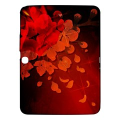 Cherry Blossom, Red Colors Samsung Galaxy Tab 3 (10 1 ) P5200 Hardshell Case  by FantasyWorld7