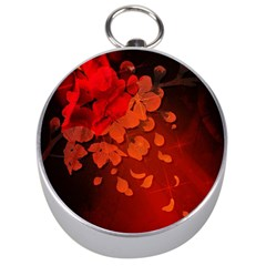 Cherry Blossom, Red Colors Silver Compasses by FantasyWorld7