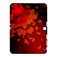 Cherry Blossom, Red Colors Samsung Galaxy Tab 4 (10 1 ) Hardshell Case  by FantasyWorld7