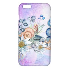 Snail And Waterlily, Watercolor Iphone 6 Plus/6s Plus Tpu Case by FantasyWorld7