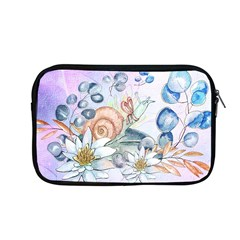 Snail And Waterlily, Watercolor Apple Macbook Pro 13  Zipper Case by FantasyWorld7