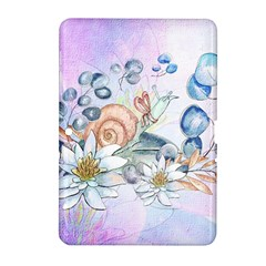 Snail And Waterlily, Watercolor Samsung Galaxy Tab 2 (10 1 ) P5100 Hardshell Case  by FantasyWorld7