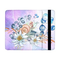 Snail And Waterlily, Watercolor Samsung Galaxy Tab Pro 8 4  Flip Case by FantasyWorld7