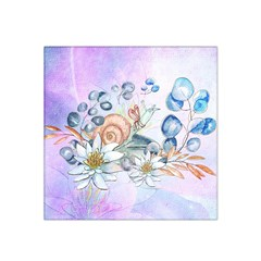 Snail And Waterlily, Watercolor Satin Bandana Scarf by FantasyWorld7