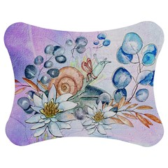 Snail And Waterlily, Watercolor Jigsaw Puzzle Photo Stand (bow) by FantasyWorld7