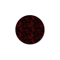 Dark Red Flourish Golf Ball Marker (4 Pack) by gatterwe