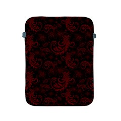Dark Red Flourish Apple Ipad 2/3/4 Protective Soft Cases by gatterwe