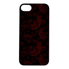 Dark Red Flourish Apple Iphone 5s/ Se Hardshell Case by gatterwe