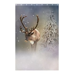 Santa Claus Reindeer In The Snow Shower Curtain 48  X 72  (small) by gatterwe