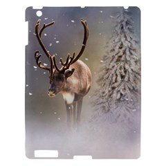 Santa Claus Reindeer In The Snow Apple Ipad 3/4 Hardshell Case by gatterwe