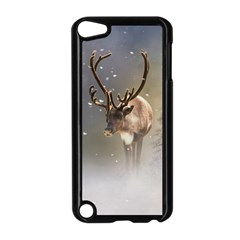 Santa Claus Reindeer In The Snow Apple Ipod Touch 5 Case (black) by gatterwe