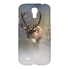 Santa Claus Reindeer In The Snow Samsung Galaxy S4 I9500/i9505 Hardshell Case by gatterwe