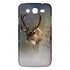 Santa Claus Reindeer In The Snow Samsung Galaxy Mega 5 8 I9152 Hardshell Case  by gatterwe