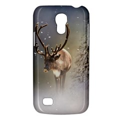Santa Claus Reindeer In The Snow Samsung Galaxy S4 Mini (gt I9190) Hardshell Case  by gatterwe