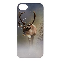 Santa Claus Reindeer In The Snow Apple Iphone 5s/ Se Hardshell Case by gatterwe