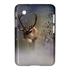 Santa Claus Reindeer In The Snow Samsung Galaxy Tab 2 (7 ) P3100 Hardshell Case  by gatterwe