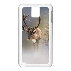 Santa Claus Reindeer In The Snow Samsung Galaxy Note 3 N9005 Case (white) by gatterwe
