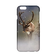 Santa Claus Reindeer In The Snow Apple Iphone 6/6s Hardshell Case by gatterwe