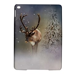 Santa Claus Reindeer In The Snow Apple Ipad Air 2 Hardshell Case by gatterwe