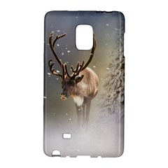 Santa Claus Reindeer In The Snow Samsung Galaxy Note Edge Hardshell Case by gatterwe