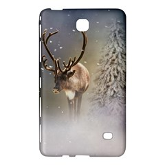 Santa Claus Reindeer In The Snow Samsung Galaxy Tab 4 (8 ) Hardshell Case  by gatterwe