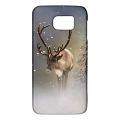 Santa Claus Reindeer In The Snow Samsung Galaxy S6 Hardshell Case  by gatterwe