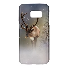 Santa Claus Reindeer In The Snow Samsung Galaxy S7 Hardshell Case  by gatterwe