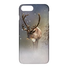 Santa Claus Reindeer In The Snow Apple Iphone 7 Plus Hardshell Case by gatterwe