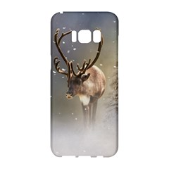 Santa Claus Reindeer In The Snow Samsung Galaxy S8 Hardshell Case  by gatterwe