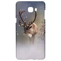 Santa Claus Reindeer In The Snow Samsung C9 Pro Hardshell Case  by gatterwe