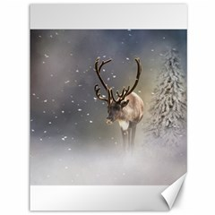 Santa Claus Reindeer In The Snow Canvas 36  X 48  by gatterwe
