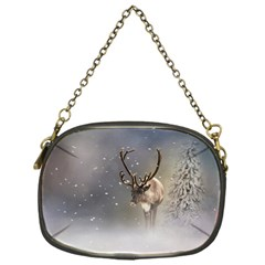 Santa Claus Reindeer In The Snow Chain Purse (one Side) by gatterwe