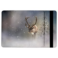 Santa Claus Reindeer In The Snow Apple Ipad Air 2 Flip Case by gatterwe
