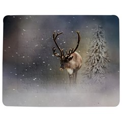 Santa Claus Reindeer In The Snow Jigsaw Puzzle Photo Stand (rectangular) by gatterwe