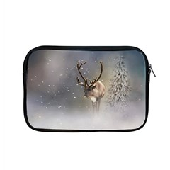 Santa Claus Reindeer In The Snow Apple Macbook Pro 15  Zipper Case by gatterwe
