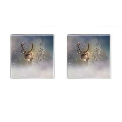 Santa Claus Reindeer In The Snow Cufflinks (square) by gatterwe