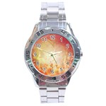 Flower Power, Cherry Blossom Stainless Steel Analogue Watch Front
