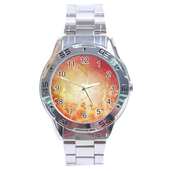 Flower Power, Cherry Blossom Stainless Steel Analogue Watch
