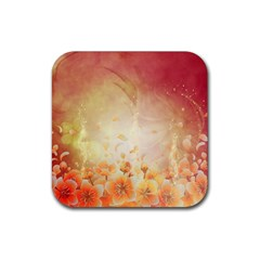 Flower Power, Cherry Blossom Rubber Square Coaster (4 Pack)  by FantasyWorld7