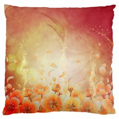 Flower Power, Cherry Blossom Large Cushion Case (one Side) by FantasyWorld7