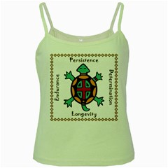 Turtle Animal Spirit Green Spaghetti Tank by linceazul