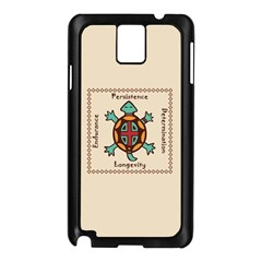 Turtle Animal Spirit Samsung Galaxy Note 3 N9005 Case (black) by linceazul