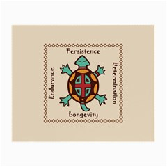 Turtle Animal Spirit Small Glasses Cloth (2 Side) by linceazul