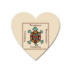 Turtle Animal Spirit Heart Magnet by linceazul