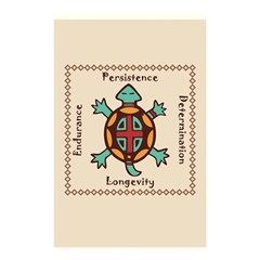 Turtle Animal Spirit Shower Curtain 48  X 72  (small)  by linceazul