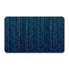 Stylish Abstract Blue Strips Magnet (rectangular) by gatterwe