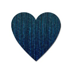 Stylish Abstract Blue Strips Heart Magnet by gatterwe
